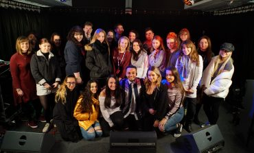 BRIT WINNER AND FORMER JLS MEMBER ASTON MERRYGOLD VISITS ACM GUILDFORD